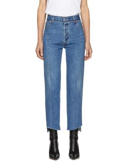Blue Reworked Push-up Jeans