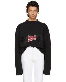 Black Embroidered Bro Sweatshirt