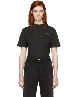Black Basic 'staff' T-shirt