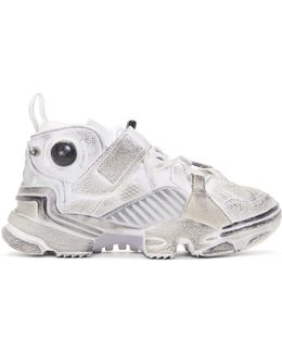 White Reebok Edition Genetically Modified Pump High-top Sneakers