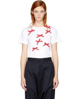 White & Red Bows T-shirt