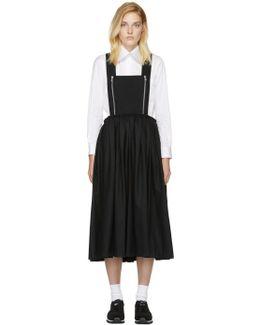 Black Zip Pinafore Dress