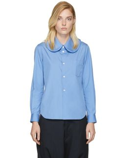 Blue Rounded Collar Shirt