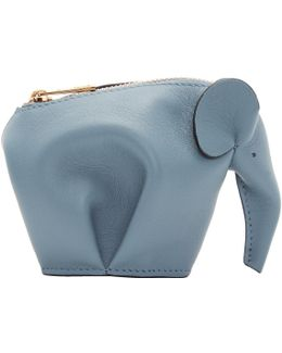 Blue Elephant Coin Pouch