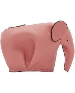 Pink Small Elephant Coin Pouch