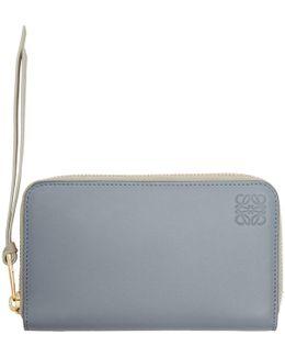 Blue Medium Zip Around Wallet