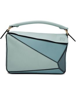 Blue Small Puzzle Bag