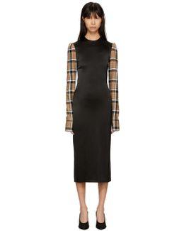 Black Check Sleeve Dress