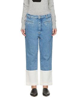 Indigo Stonewashed Fisherman Jeans