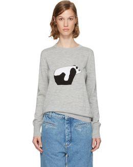 Grey Panda Sweater