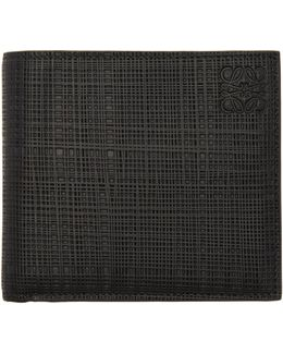 Black Engraved Bifold Wallet