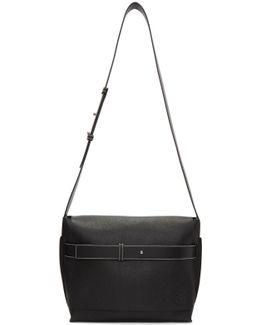Black Small Bolso Belt Messenger Bag