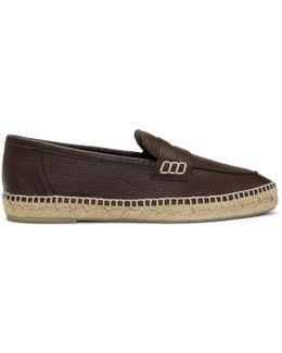 Brown Loafer Espadrilles