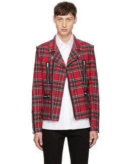 Red Tartan Rider Jacket