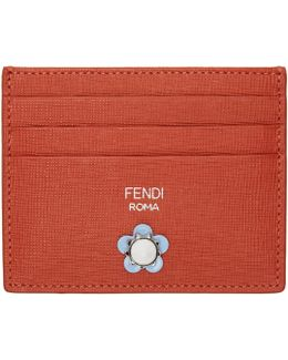 Red Flowerland Card Holder