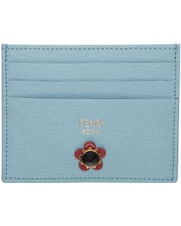 Blue Flowerland Card Holder