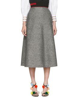 Black & White Houndstooth Skirt