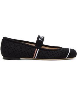 Black Sock Ballerina Flats