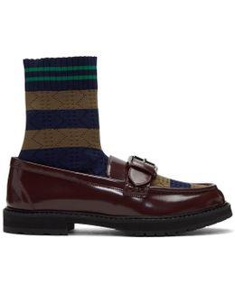 Brown Scuba Sock Loafers