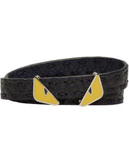 Black 'bag Bugs' Double Wrap Bracelet