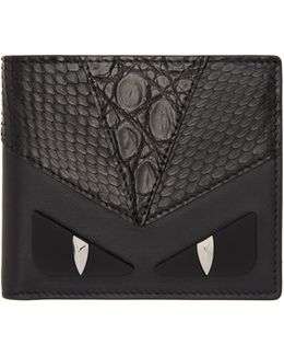 Black Snakeskin 'bag Bugs' Wallet