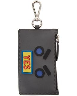 Grey 'yes' Coin Pouch