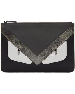 Black & Grey 'bag Bugs' Pouch
