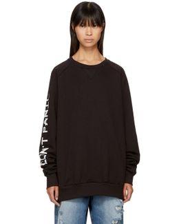 Black 'don't Panic' Sweatshirt