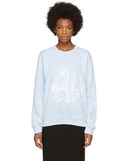 Blue Horses Sweatshirt