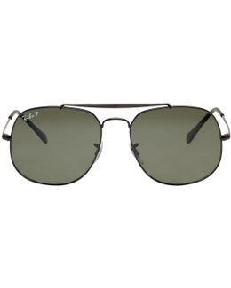 Black General Aviator Sunglasses