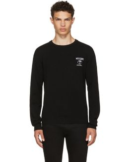 Black Logo Sweater
