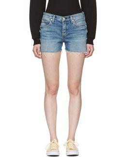 Blue Denim Tomboy Shorts