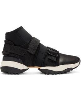 Black Neo Plain High-top Sneakers