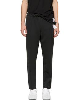 Black Spacer Post-run Trousers