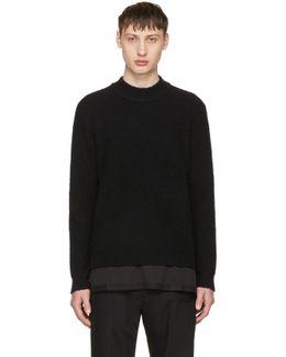 Black Bouclé Sweater