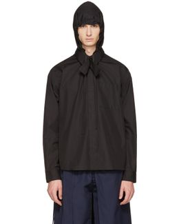 Black Hooded Shirt