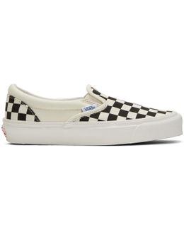 Off-white & Black Checkerboard Og Classic Slip-on Sneakers