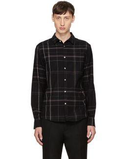 Black Plaid Busy Shirt