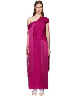 Pink Wrapped Fringe Dress