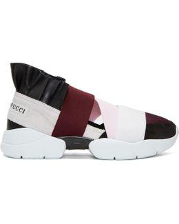 Black & Grey Colorblock Sneakers