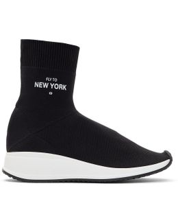 'fly To New York' Sock High-top Sneakers