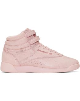 Pink Freestyle High-top Sneakers