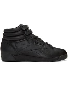 Black Freestyle High-top Sneakers