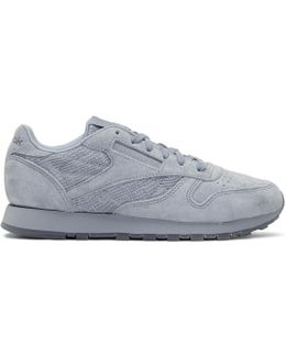 Grey Suede Club C 85 Sneakers