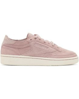 Pink & White Club C 85 Sneakers