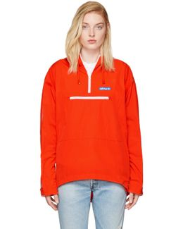 Orange Tennoji Windbreaker Jacket