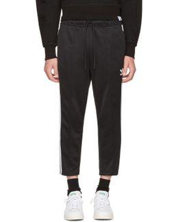 Black Sst Crop Lounge Pants