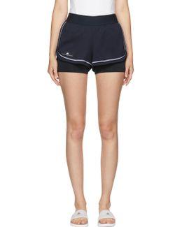 Navy Barricade Tennis Shorts