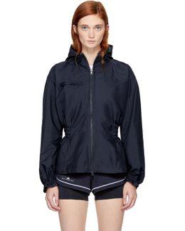Navy Hooded Running Jacket