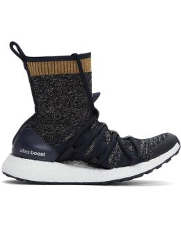Navy Ultra Boost X Mid Sneakers